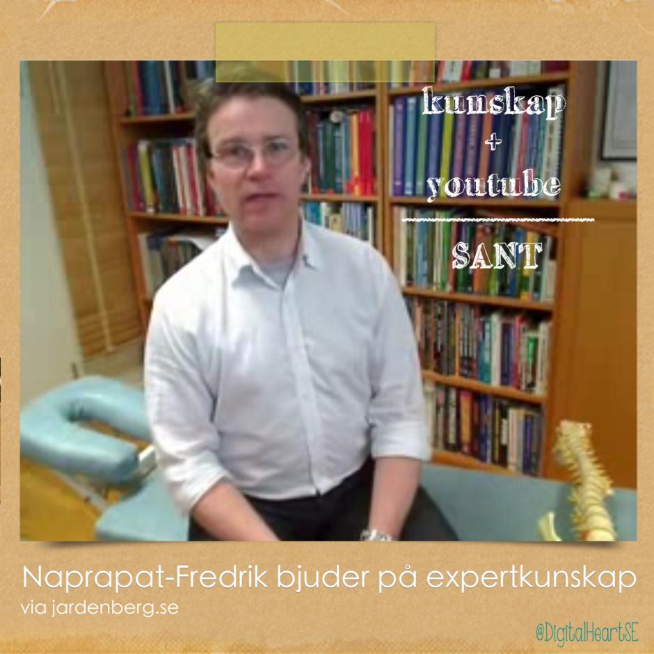 Naprapat Fredrik Jensen i Lund tipsar i sina Youtube-filmer
