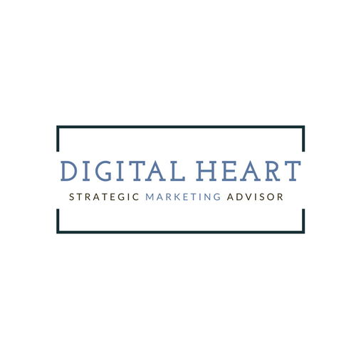 DigitalHeart logo. Blue text on white background